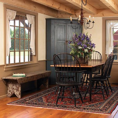 primitive homes crossword Country Dining Rooms, Primitive Dining Rooms, Home, Primitive Living Room, Colonial Dining Room, New England Homes, Country Style Homes, Primitive Dining Room, Country House Decor
