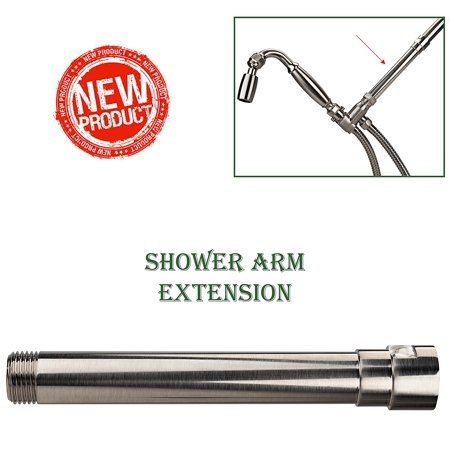High Sierra Showerheads Exclusive All Metal Shower Arm Extension Lowers Existing Shower Head Handheld Shower Un Shower Arm Extension Shower Arm Metal Shower Oil rubbed bronze shower arm extension