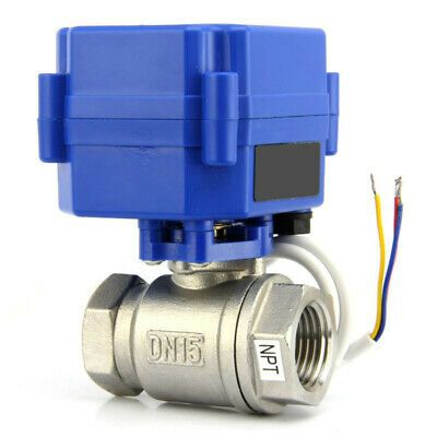 1 2 Npt Motorized Ball Valve 9 12v To 24v Ac Dc 3 Wire Stainless Steel Epdm Stainless Valve Home Brewing