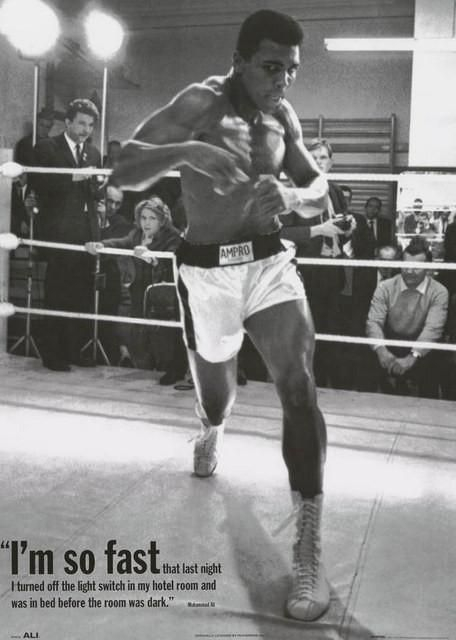 Muhammad Ali 10 Quote Black White Signed Poster Boxer Sport Fight Inspiration