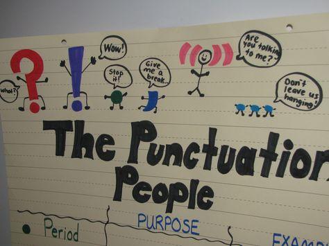 Punctuation People....Great idea!