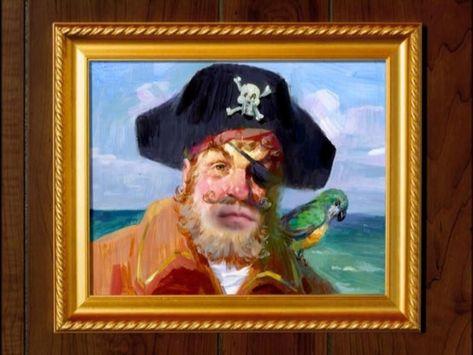 SpongeBob Painty The Pirate Painting Canvas SpongeBob SquarePants