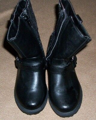 girls black boots size 9