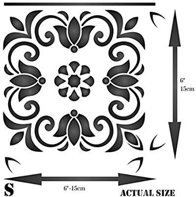 turkish tile stencil 15 x 15cm s