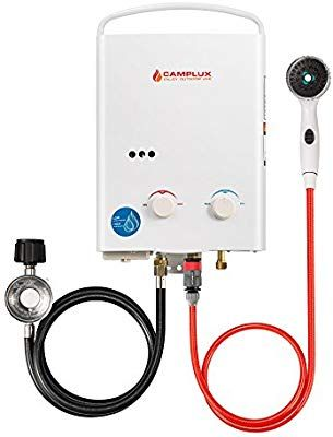 Camplux 5l 1 32 Gpm Outdoor Portable Propane Tankless Water Heater Amazon Com Water Heater Solar Energy Panels Tankless Water Heater