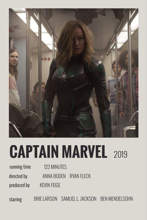 captain marvel polaroid poster