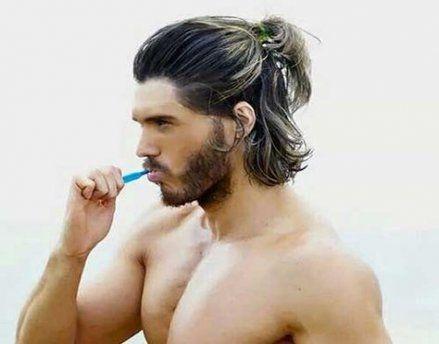 33 Trendy Hairstyles For Medium Length Hair Men Half Up Half Down Long Hair Styles Men Medium Length Hair Men Mens Hairstyles Medium