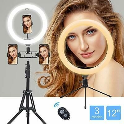Ad Ring Light Sxiya 12 Inch Led Selfie Ring Desktop Circle Light With 12 In In 2020 Circle Light Camera Lighting