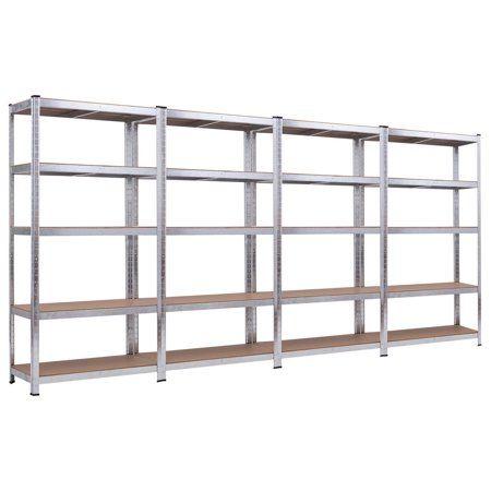 Costway 71 Heavy Duty Storage Shelf Steel Metal Garage Rack 5