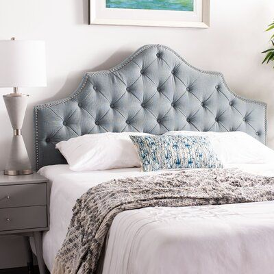 Willa Arlo Interiors Christophe Upholstered Panel Headboard Size King Color Sky Blue Upholstery P In 2020 Upholstered Panels Panel Headboard Upholstered Headboard