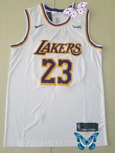 Men 23 Anthony Davis Jersey White Los Angeles Lakers Jersey Swingman Nreball Br In 2020 Anthony Davis Los Angeles Lakers Lakers