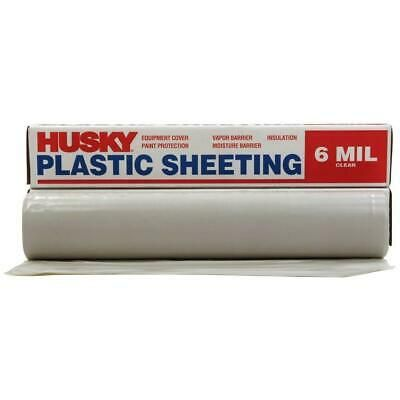 Sponsored Ebay Husky 10 Ft X 50 Ft Clear 6 Mil Plastic Sheeting Cf0610 50c Plastic Plastic Sheets Greenhouse Supplies