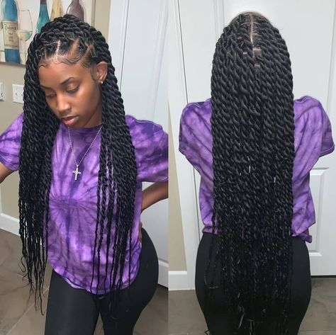 twist hairstyles For Black Women - Hottest Hair Color Trends for Women in 2019 Twist Braid Hairstyles, Easy Hairstyles For Medium Hair, Braided Hairstyles For Black Women, African Braids Hairstyles, My Hairstyle, Cool Hairstyles, Hairstyle Ideas, Hair Ideas, Protective Hairstyles