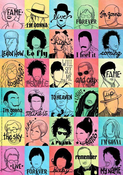 Fame Pop Song Illustration Music Art Print Pop Art Poster