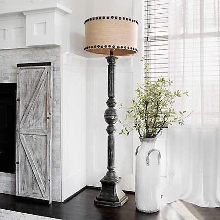 Distressed Oliver Baluster Floor Lamp Kirklands Farmhouselamps