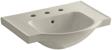 Kohler Elmbrook 24 In Pedestal Sink In White With 8 In