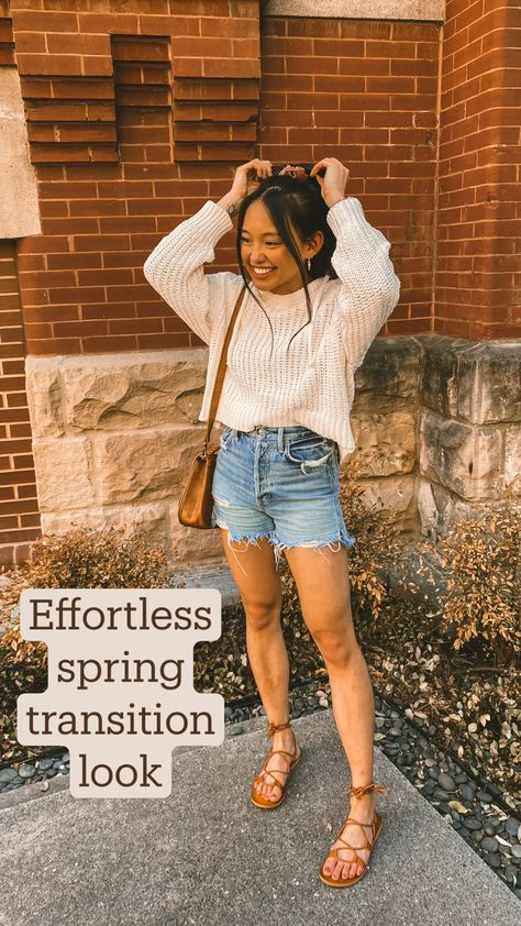 Effortless spring transition look