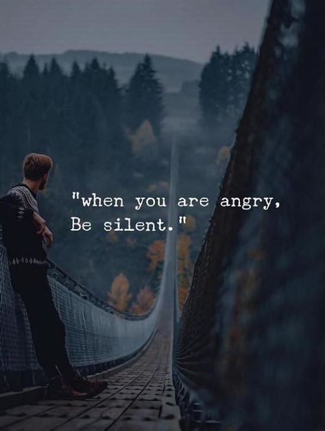 #about #anger and #silence..