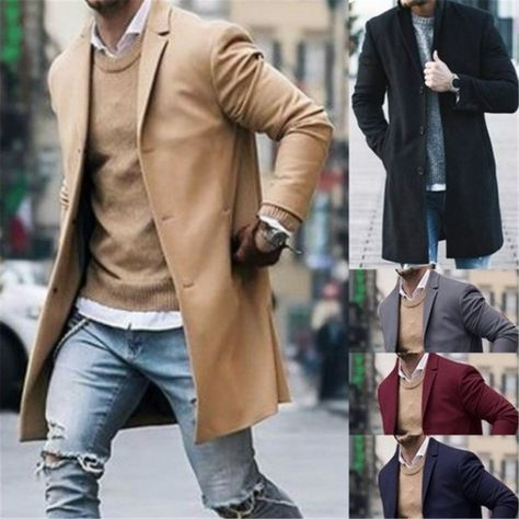 Description Product   Name Pure color   fashion long sleeve coat SKU 4780A5B4D9DD Gender Men Season Autumn/Winter Type Fashion/Casual Occasion Office/Daily life/Date Please Note: All dimensions are measured manually with   a deviation of 1 to 3cm SIZE/CM BUST SHOULDER SLEEVE LENGTH S 100 44.5 62 87.5 M 105 46 63 89 L 1