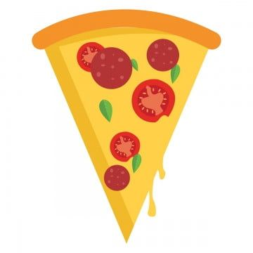 Pizza Slice Illustration Vector On White Background Pizza Clipart Pizzeria Meal Png And Vector With Transparent Background For Free Download Illustration White Background Clip Art