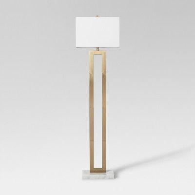 Weston Window Pane Floor Lamp Project 62 Brass Floor Lamp Gold Floor Lamp Tall Floor Lamps