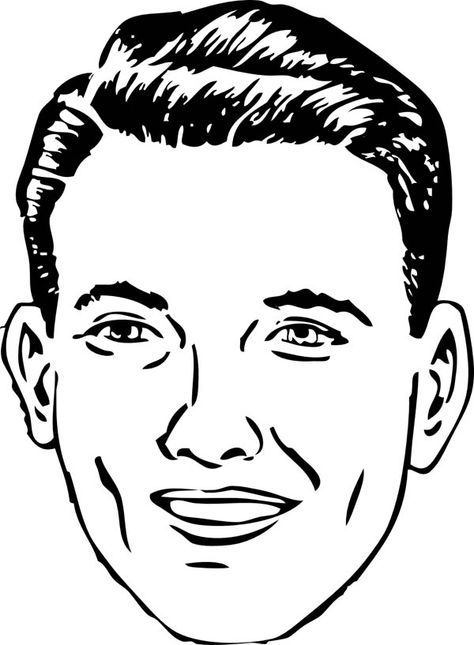 Normal Person Type of Face Coloring Page | Color: People/Blank ...