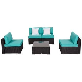 Kinbor Patio Furniture Set All Weather Outdoor Sectional Sofa