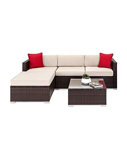 Tuoze 5 Pieces Patio Furniture Sectional Set