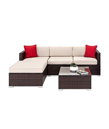 Download Wallpaper Tuoze 5 Pieces Patio Furniture Sectional Set