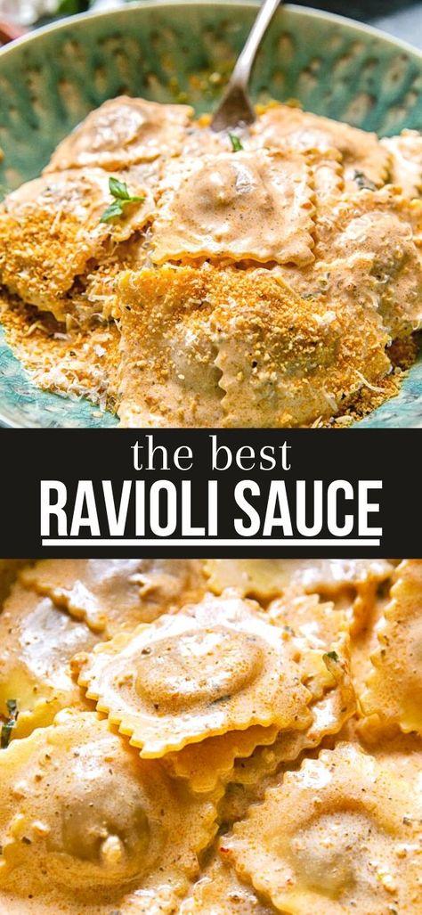 Sauce Recipes, Pasta Recipes, Cooking Recipes, Casserole Recipes, Dinner Recipes, I Love Food, Good Food, Yummy Food, Ravioli Sauce