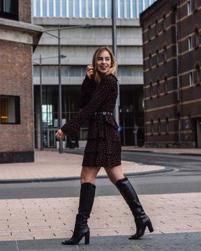 Zwarte BRONX Lange Laarzen NEW AMERICANA 14165 | Omoda