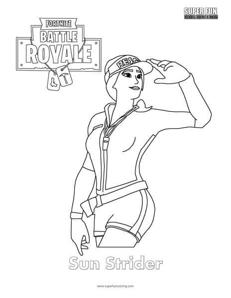 Download This Free Fortnite Coloring Page Click On The Worksheet To Open The Pdf To Print Enjoy Sun Strider Fortnit In 2021 Cool Coloring Pages Coloring Pages Color