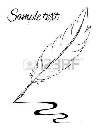 Escrito A Mano Con Pluma De Tinta Dibujo A Mano Derecha Icono De Vector Dibujado A Mano Plumas Dibujos Plumas Caligraficas Diseno De Tatuaje De Pluma
