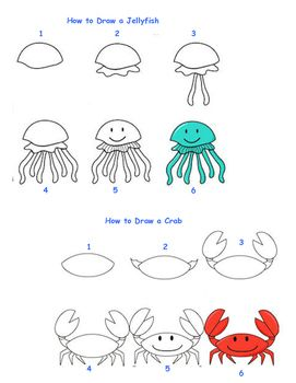 how to draw sea creatures fun activities creatures and activities