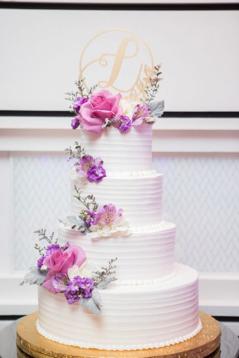 Nicole Haralambos Wedding Watermill Caterers Smithtown Ny Us Buttercream Wedding Cake Pink Wedding Cake Tiered Wedding Cake