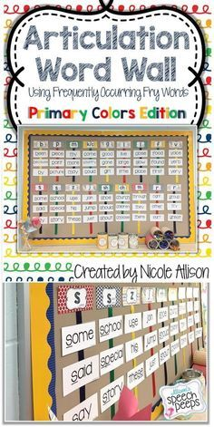 Functional Decoration For Your Therapy Room Speech Peeps Word Wall School Speech Therapy Speech Therapy Materials
