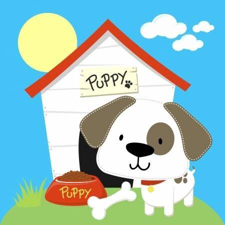 Perrito Lindo Y Perro De La Casa Los Objetos Individuales En Formato Muy Facil De Editar Cachorros Adorables Animales De Dibujos Animados Bonitos Perrito