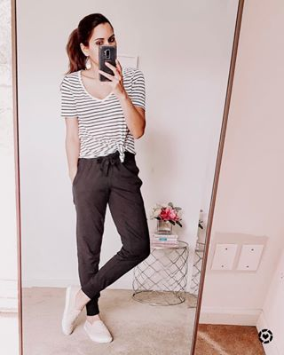 7 Cute Cardigan Outfits For Spring You Can Copy Right Now Life With Mar Black Joggers Outfit Womens Joggers Outfit Jogger Pants Outfit Women
