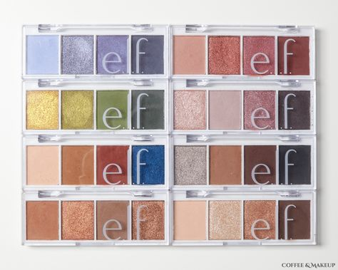 Swatches: Elf Bite Size Eyeshadows by Coffee & Makeup Elf Palette, Elf Eyeshadow Palette, Elf Makeup Dupes, Skin Makeup, Elf Makeup Products, Beauty Products, Beauty Makeup, Elf Lipstick, Whats In My Makeup Bag