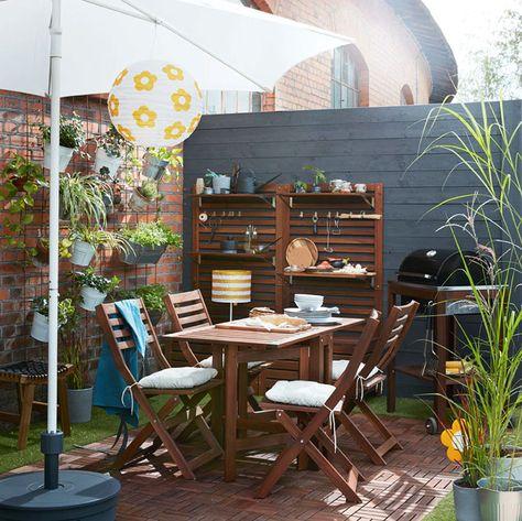 Ikea Tavolo Legno Giardino.28 Idee Per Arredare Un Terrazzo Ikea Patii Arredamento Da