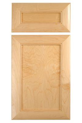 Mitered Plat Panel Door In Maple With Beveled Edge