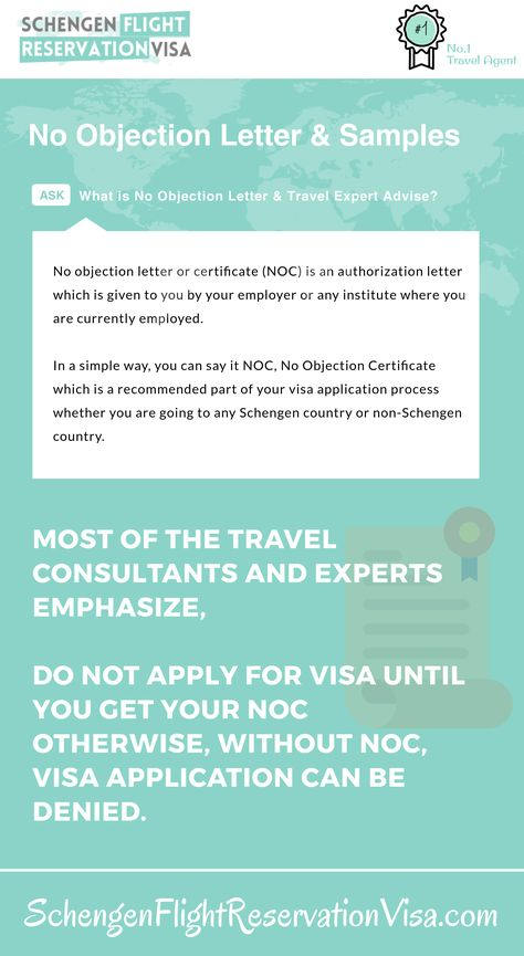 No objection letter for visa application and expert advise - noc no objection certificate