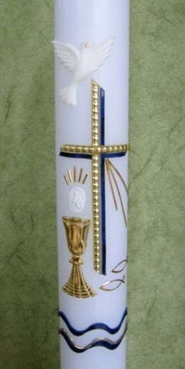 Taufkerzen Nr 2 Original handverzierte Wiedemann Anlass Kerzen Kerze ohne Namensverzierung