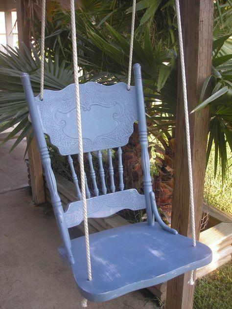 Shabby Chic Chair Swing. $50.00, via Etsy. I feel like I could make this