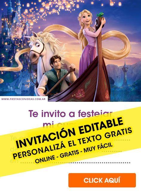 45 Hermosas Invitaciones De Princesas Disney Gratis