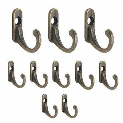 Antique Brass Wall Mounted Hook Key Holder Letter Rack Hanger Hanging Decor