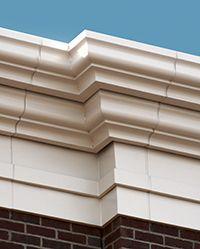 exterior fiberglass cornice   pitched roof   Cornice design