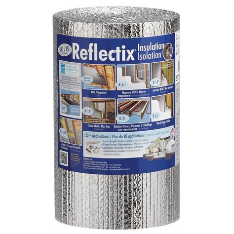 Reflectix 16 in. x 25 ft. Double Reflective Insulation Roll with Staple Tab - The Home Depot