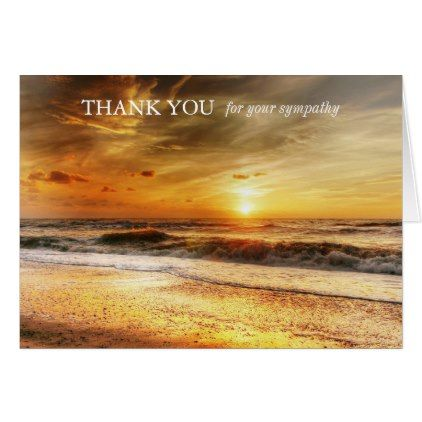 Funeral Thank You Cards Beach Sunrise Zazzle Com With Images
