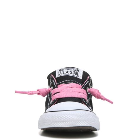 2ebeae451bea Converse Kid s Chuck Taylor All Star Street Low Top Sneakers (Black Pink)